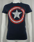Authentic CAPTAIN AMERICA Distressed Logo Shield Girl T-Shirt S M L XL 2XL NEW