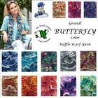 GRUNDL BUTTERFLY COLOR LACY RUFFLE SCARF YARN - various shade options