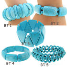 5Style Selected Newest Heavy chunky Turquoise Bracelet Turquoise Bangle Stretch