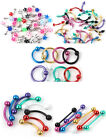 FREE PP 4pcs Mixed Body Jewelry Eyebrow Tongue Navel Rings Studs Barbell PICK
