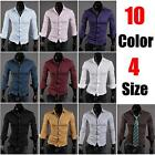 attractive delighful Mens Luxury Stylish Dress Slim Fit Shirts 10Colours 4 Size