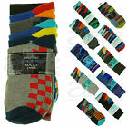 5 Pairs Cotton Rich Socks New Boys Childrens Kids Plain Patterned Trendy Funky