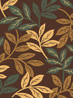 TAUPE brown BLUE leaves CASUAL tropical TRANSITIONAL floral AREA rug
