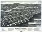 6071. Pendleton. Or 1884 County Seat painting POSTER. Wall Art Decorative.