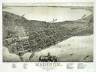 6132. Madison State capital of Wisconsin 1886. POSTER. Wall Art Decorative.