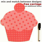 Cupcake magnetic dry wipe memo board, pen. Note pad, new, kitchen. Cup cake