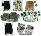 "NEW 8""/20cm 100% Real Genuine Rabbit Fur Women Leg Warmers Boots Cover Colors"
