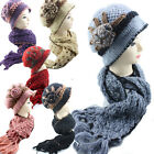 Ladies Vintage Crochet Hat and Scarf One Set Matching Colour Designer's Fashion