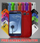 NEW STYLISH GRIP SERIES CASE FITS SAMSUNG GALAXY S2 S3 FREE SCREEN PROTECTOR
