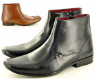 New Men's Italian Style GENUINE Leather Formal Chelsea Ankle Boots UK Sizes 7-11