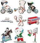 Olympic London Track Cycling Hockey Rowing Bus Christmas Santa Claus Pin Badge