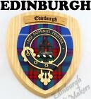 EDINBURGH CLAN CREST WALL PLAQUE PLAQUES AVAILABLE IN ANY CLAN NAME