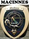 MACINNES CLAN CREST WALL PLAQUE PLAQUES AVAILABLE IN ANY CLAN NAME