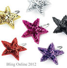 1pc SPARKLING SEQUIN STAR SNAP CLIP 7cm HAIR SLIDE GOLD SILVER RED PURPLE BLACK