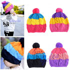 New Cute Colorful Baby Child Kid Girl Boy Stretchy Winter Warm Ball Hat Beanie