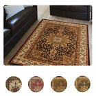 Large Medallion 8 x 11 Persian Area Rug Border Carpet - Actual 7' 8 x 10' 4""