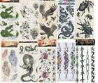 10 SHEETS OF HALLOWEEN PARTY TEMPORARY TATTOOS BODY STICKERS  - 4 choice