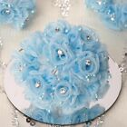 72 pcs Organza ROSES with RHINESTONES - Wedding Flowers CRAFT FAVORS Decorations