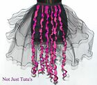 BLACK PINK METALLIC PINK MOULIN ROUGE TAILS ALL SIZES BURLESQUE UNIQUE CURLY