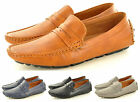 Men's Leather Look Casual Loafers Moccasins Slip on Driving Shoes UK Sizes 6-11