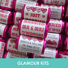 100 PERSONALISED PINK LOVE HEARTS SWEETS CANDY WEDDING BIRTHDAY PARTY FAVOURS
