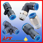 Pneumatic Push In Fittings for Air/Water Nylon Pipe/Tubing/Tube Size Choice Fit