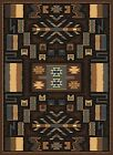 BROWN multi SOUTHWEST carpet MODERN lodge NATIVE american CONTEMPORARY area RUG