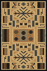 BEIGE tan SOUTHWEST carpet MODERN lodge NATIVE american CONTEMPORARY area RUG