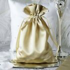 "120 pcs 6x9"" Large SATIN FAVOR BAGS - Wedding Drawstring Gift Pouches Discounted"