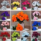 12 bushes - 84 Silk OPEN Roses WEDDING Bouquets FLOWERS Supply Centerpieces SALE