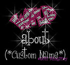 Wild about - Custom Name - Rhinestone Iron on Transfer Bling Hot Fix Pick Color