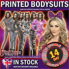 Animal Catsuit Bodysuit Leopard Zebra Tiger Tie Dye Army Fancy Dress 6 - 14