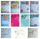 40th BIRTHDAY (Age 40) Party INVITATIONS & Envelopes - Large Range of Designs