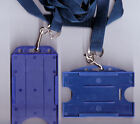 10 x ID Badge Card Rigid Holder & 15mm Lanyards 10 Colours Available FREE UK P&P