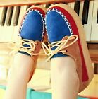 Ladies Fashion Faux Suede Colored Lace Up High Platform Flat Creepers Shoes #S40