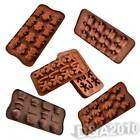 New Multistyles 12 Holes 1Pc Set Silicone Ice Chocolate Cookie Baking Mould Pan