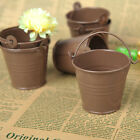 12/60/120PCS Mini Favour Box Alloy Pail Bucket Wedding Party Favor Chocolate