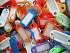 KEY TAGS ASSORTED KEY RINGS  COLOURED PLASTIC ID TAGS + NAME/ID CARD FOB LABEL