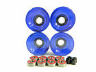 Blank 60mm Longboard Cruiser Multi Clear Color Wheels + ABEC 7 Bearing + Spacers