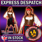 FANCY DRESS COSTUME LADIES CARIBBEAN PIRATE WOMAN SIZE 6-28