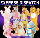 EASTER BUNNY RABBIT AND CHICKEN/CHICK FANCY DRESS COSTUMES BABY TO ADULT