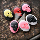 25x18/40x30mm Vintage Resin Flatback Oval Skull Cameo Resin Cabochons Wholesale