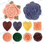 Large Flatback Resin Rose Peony Flower Cabochons Wholesale Card Crafts Choose
