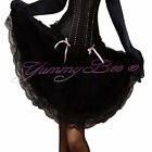 Sexy Black Skirt Frilly Ladies Plus Size 6 8 10 12 14 16 18 20 22 24 Fancy Dress