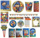 MIKE THE KNIGHT Birthday PARTY RANGE (Tableware Balloons & Sticker Sets){Amscan}