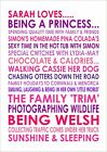 Personalised Likes Loves Poster Print A4 Birthday 18th 21st 40th 50th 60th 70th