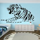 Tiger Wall Sticker Animal Car Africa Stripes Lion Art Decals Transfer Vinyl A49
