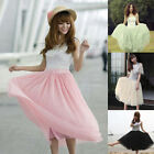 2014 Women Bohemian Pleated Tutu Princess Skirt Petticoat Knee-Length Mini Dress