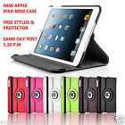 IPAD MINI 360 DEGREE ROTATING STAND LEATHER CASE COVER +SCREEN PROTECTOR+ STYLUS