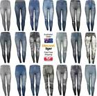 Faux Jeggings Jeans Leggings Ripped 1980's Fitted Skinny Leg Pants Style